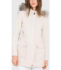 parka  ash chaqueton liso  beige - calce regular