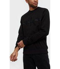 calvin klein jeans taping through monogram cn tröjor black