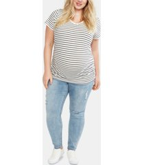 motherhood maternity plus size skinny jeans
