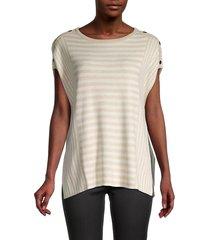 joseph a women's striped stud poncho - color block - size xl