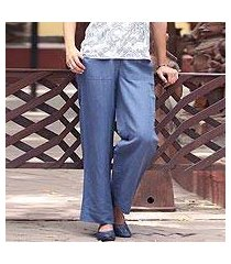 linen blend pants, 'relaxed yet refined' (india)