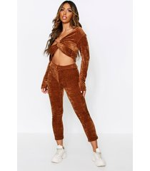 soft touch knitted sweater + trouser set, camel