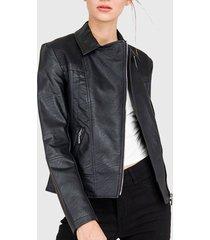 chaqueta  ash texturas negro - calce regular
