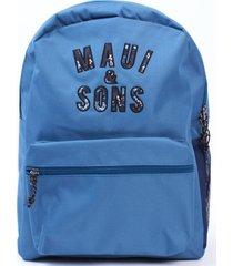 mochila escolar mujer celeste maui and sons