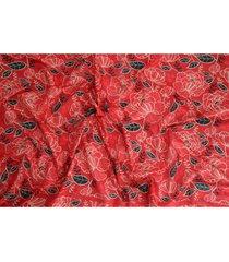 pañuelo peonias rojo humana