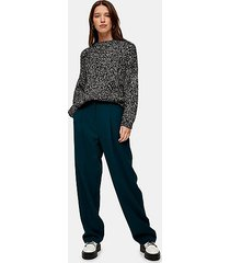 teal twill slouch peg pants - teal