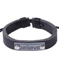 pulsera believe negra pu-10431