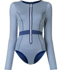 duskii gigi long-sleeved swimsuit - blue