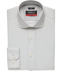 awearness kenneth cole awear-tech light gray patterned slim fit dress shirt