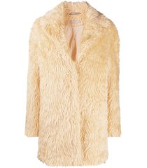 12 storeez short faux fur coat - yellow