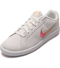 tenis lifestyle beige-blanco nike court royal prem