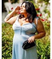 danielle bernstein plus size satin midi dress, created for macy's