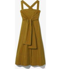 proenza schouler white label poplin apron dress olive/green 8