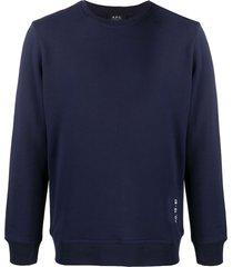 a.p.c. armand long sleeve sweater - blue