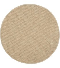 safavieh natural fiber natural and beige 8' x 8' sisal weave round area rug