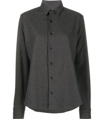 ami paris single-breasted shirt - grey