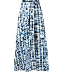 barena abstract-print tied skirt - blue