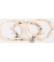 clair station bracelet set - blush