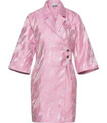 jacquard korte jurk roze ganni