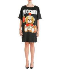 vestito abito donna corto miniabito manica corta roman teddy bear