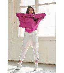 women's free people fp movement cool factor sweatshirt, size medium - pink
