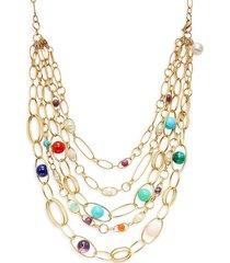 ippolita women's 18k yellow gold & multi-stone 5-strand necklace