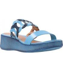 sandalia azul azaleia