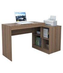 escrivaninha e mesa p/ computador moove castanho appunto marrom