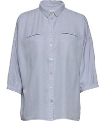 shirt långärmad skjorta blå sofie schnoor