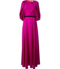 roksanda draped belted silk gown - purple