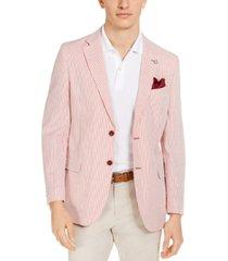 nautica men's modern-fit stretch stripe seersucker sport coat