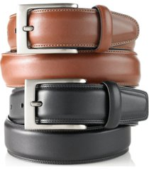 perry ellis portfolio men's big and tall full grain leather belt