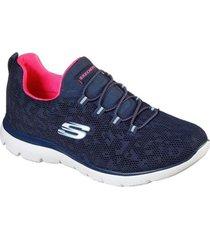 zapatos mujer  summits - leopard spot azul skechers