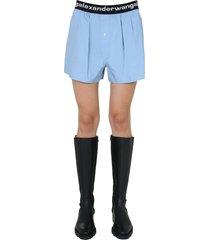 t by alexander wang shorts with logo band