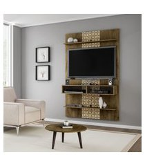 painel móveis bechara vega tv até 42 pol 2 prateleiras 3d rústica