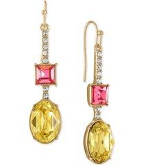 rachel rachel roy gold-tone multicolor crystal stick drop earrings