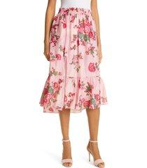 loveshackfancy floral print skirt, size large in pink desert at nordstrom