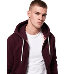 superdry heren vest orange label zip hoodie cranberry grit