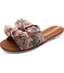 sandalia plana rosa-multicolor moleca