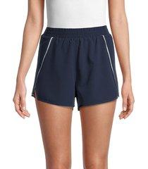 the upside women's stretch-waist shorts - navy - size m