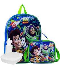 kit escolar toy story disney mochila + lancheira