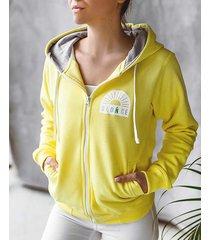 bluza na lato damska żółta słońce