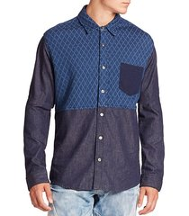 two-tone quilted shirt