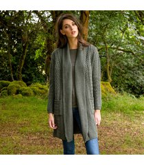 the glenevin waterfall cardigan green m