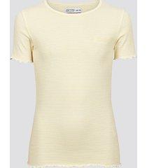 t-shirt i ekologisk bomull - melerad ljusgul
