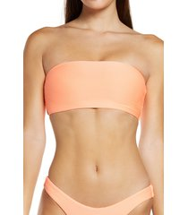 women's seafolly essential tube bikini top, size 10 us - orange