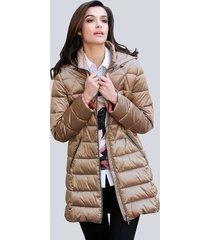 gewatteerde jas alba moda goudkleur::rood