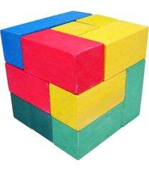 desafio cubo para montar grande ciabrink madeira multicolorido