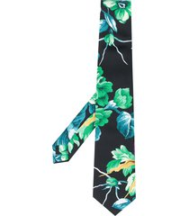 msgm floral print tie - black