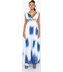 akira goddess waist detail maxi dress